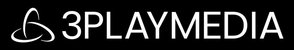 white 3Play Media logo on black background
