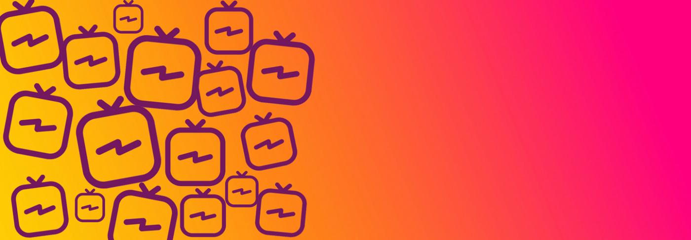 Instagram TV logo pattern