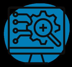 Computer icon representing IT